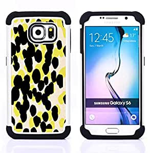 - yellow pattern abstract art/ H??brido 3in1 Deluxe Impreso duro Soft Alto Impacto caja de la armadura Defender - SHIMIN CAO - For Samsung Galaxy S6 G9200