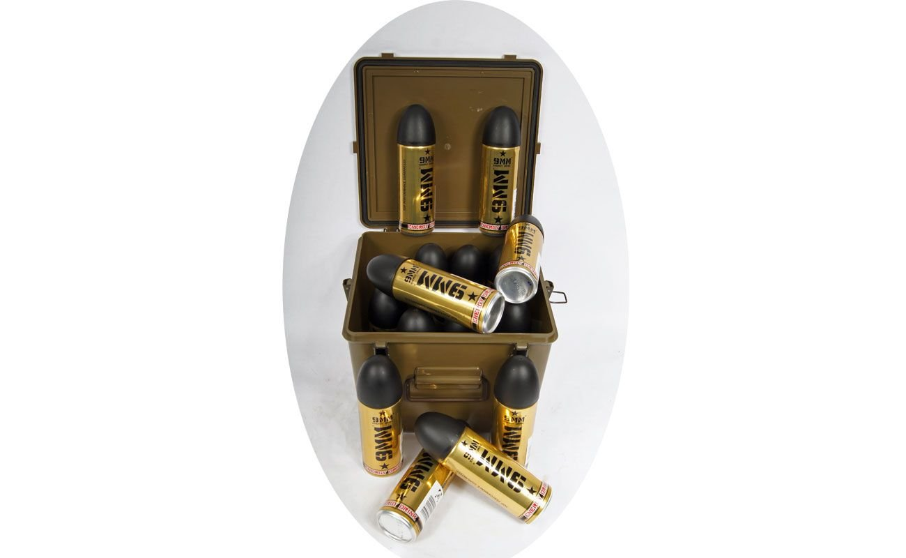 XL-Set 16 Energy Drinks 9mm + US First Aid Kunststoffkiste Geschenkset 12,00€/L