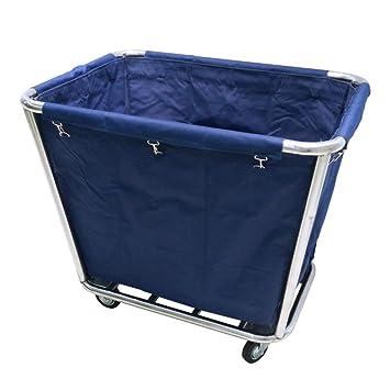Cestas de lavanderia WXF, Bolsa de Almacenamiento para el Hotel Coche de Lino con Marco