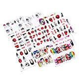 iFancer Nail Stickers Water Transfer Nail Art Decals for Women Girl Fingernail Toenail Tattoo Decoration Sexy Girls Love Kiss Dollar Lips Smoke Pattern Nail Art Supplies (Sexy Girl Series)