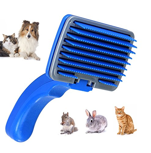 Tiger Eyes Slicker Brush for Dogs, Cats and Other Pets for Hair Grooming and De-Shedding (No Metal Used)