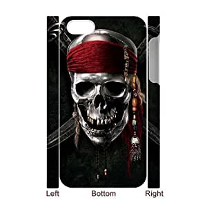 C-EUR Diy hard Case Pirates of the Caribbean customized 3D case For Iphone 4/4s
