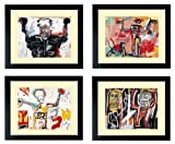 Basquiat Art Posters Set of Framed Prints