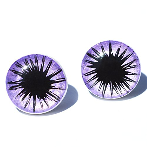 Lavender Starburst (Metallic Purple Starburst Earrings Jewelry // Kawaii, Pastel Goth, Pastel Grunge, Moonchild, Creepy Cute, Lavender, Black, Star, Studs)