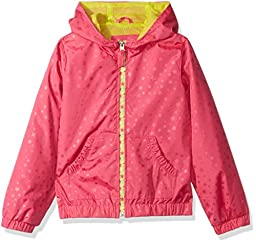 Pink Platinum Big Girls\' Heat Stamp Active Jacket with Mesh Lining, Pink, 14/16