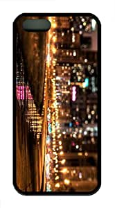 new case nyc city lights TPU Black Case for iphon 5/5S