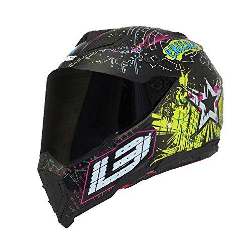 Off Road Atv Exhaust - Woljay Dual Sport Off Road Motorcycle helmet Dirt Bike ATV D.O.T certified (L, cheers)