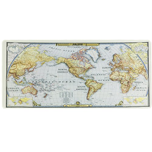 - World Map Mouse Mat Gaming Mouse Mat Desk Pad Non-slip Rubber Base with Stitched Edges for Computer, PC and Laptop,Size 30 x 70CM