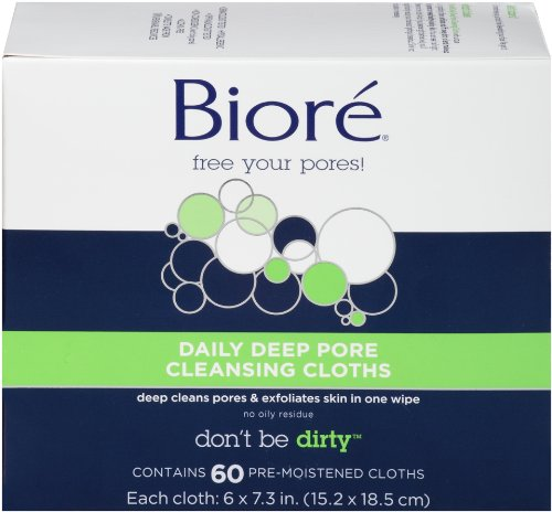 Price comparison product image Biore Daily Deep Pore Cleansing Cloths, 60 Count