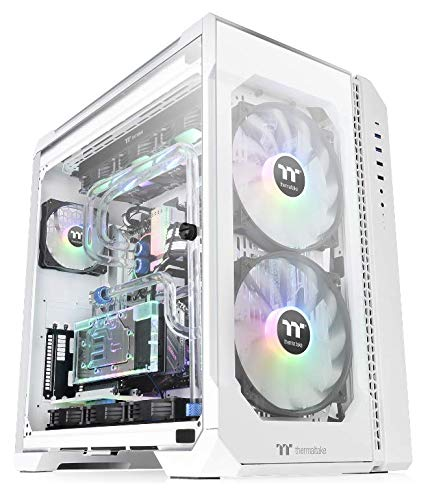 Thermaltake View 51 Snow Motherboard Sync ARGB E-ATX Full Tower Gaming Computer Case with 2 200mm ARGB 5V Motherboard Sync RGB Fans + 140mm Black Rear Fan Pre-Installed CA-1Q6-00M6WN-00