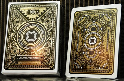 Mechanic Industries GLIMMER DECK - Gold Metallic Playing Cards made by USPCC - Marked - Limited (Mechanic Deck)