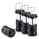 TANSOREN 30 LED Bulbs Camping Lantern Flashlight, Solar USB Rechargeable or 3 AA Power Supply, Built-in Power Bank, Upgraded Magnetic Base - Survival Lights for Emergency, Hurricane, Outage (4)