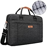 E-Tree 16'' 17'' 17.3'' inch Laptop and Tablet Bag, Shoulder Bag, Shock & Water Resistant Sleeve Briefcase for Macbooks/Ultrabooks/Chromebooks/Notebooks w/Handle & Carrying Shoulder Strap - Black