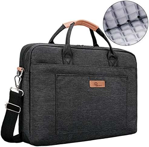 E-Tree 15.6 inch Laptop Sleeve Handbag for 15 to 15.6 Notebook Shock Proof Ultra Light Weight Oxford Laptop Shoulder Bag Computer Bag Briefcase Black