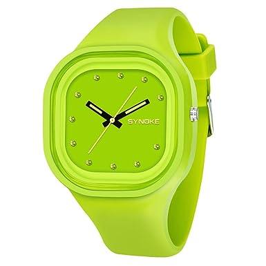 dracle Jelly Relojes, resistente al agua silicona deportes LED Digital Fecha reloj de pulsera pareja
