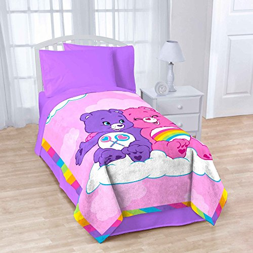 Care Bears Rainbow Day Twin Blanket (Care Blanket Bears)