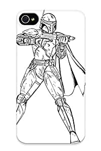 Freshmilk DLHqJA-2917-dibev Case For Iphone 4/4s With Nice Boba Fett Coloring Page Coloring Page Picture Imagixs Appearance