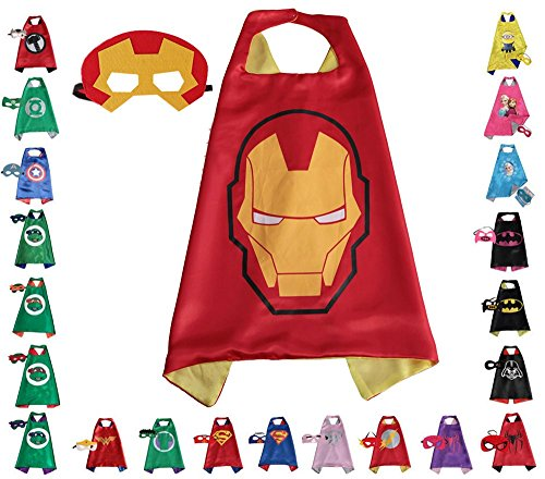 [Super hero Cape and Mask, Children, Boys, Girls Dress Up Costume] (Flash Gordon Halloween Costume)