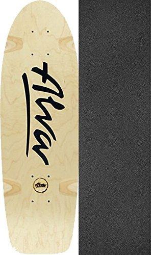 テンションくるみ隣接するAlvaスケートボードBela Horvath Reissue Natural / Black Old Schoolスケートボードデッキ – 8.5