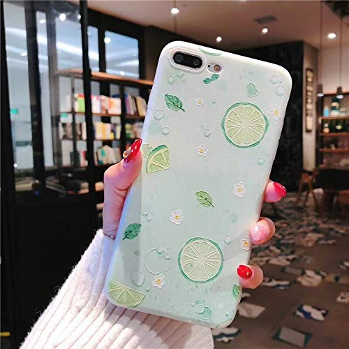 Soft Silicone Case for iPhone 5 5s SE 6 6S 7 8 Plus Phone Cases Banana Watermelon Strawberry Pear Back Cover for iPhone X (PIN04) (Banana Silicone Iphone 5s Case)