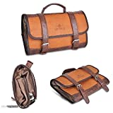GOOD MEDIA Men Toiletry Bag Travel Kit Case Hanging Wash Pocket Accessories Vintage Design