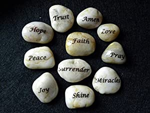 RM 11 Pebbles Pieces With Hand Written Inspiration Quote Name Word For Home Decoration And All Purpose Gift