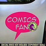 COMICS FAN Zine Club Comic Book Vinyl Decal Bumper Sticker Car Laptop Wall Sign PINK