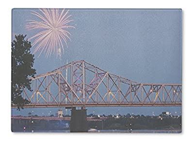 Gear New Cutting Board, Louisville Fireworks By Ohio River Iby Kentuckyindianborder