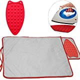 quilting table fold down - Ironing Pad Blanket and Iron Rest – 20 x 30 inches Hot Iron Mat Pad for Table Top or Countertops with Heat Resistant Pad as Rest Plate Perfect Alternative to Ironing Board by Perfect Life Ideas