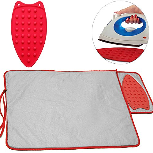 Ironing Pad Blanket and Iron Rest – 20 x 30 inches Hot Iron Mat Pad for Table Top or Countertops with Heat Resistant Pad as Rest Plate Perfect Alternative to Ironing Board by Perfect Life Ideas
