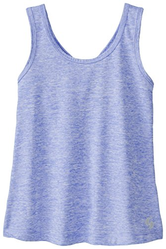Soffe Big Girls' Knotted Racerback Tank, Persian Jewel Heather, Large