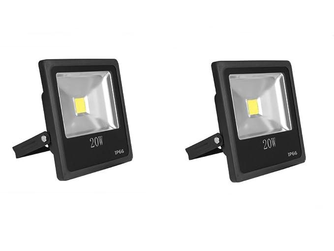 2 x 20 W foco proyector LED 20 W Super luminoso blanco frío ...