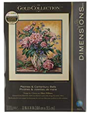 Dimensions Gold Collection Counted Cross Stitch Kit, Floral Vase, 18 Count Ivory Aida, 12'' x 14''