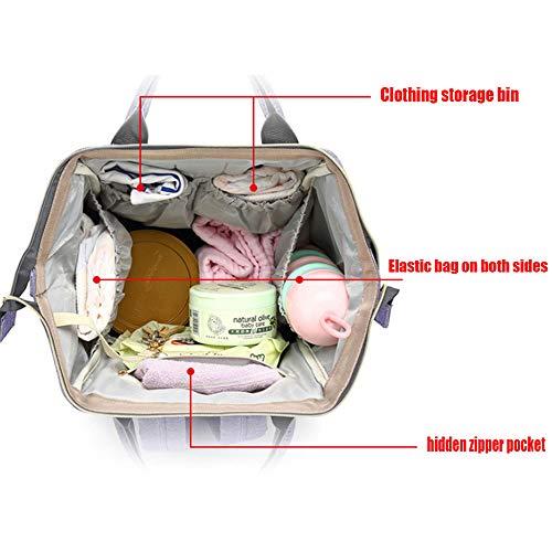 Zwnswd De Capacidad Madre Moda Multifunción Momia Y F Almacenamiento Alta Cinturon Portatil Bebe Viajes Bolsa Mochila a IrIwz