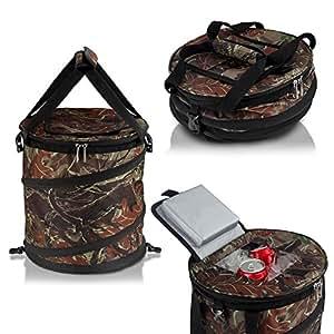 Gigatent 24Puede Pop Up Cooler-Ligero, Aislado, portátil y Plegable-para Viajes, picnics, Camping y más-Jamboree, Camo