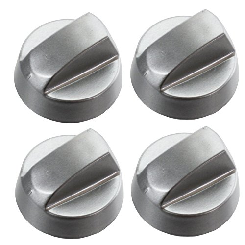 - Spares2go Universal Oven Cooker Hob Control Knob Switch (Pack Of 4, Chrome/ Silver)