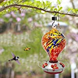 Grateful Gnome - Hummingbird Feeder - Hand Blown