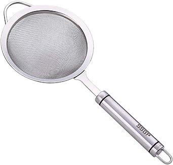Vektenxi //Passoire fine en acier inoxydable de passoire de cuisine de passoire de cuisine avec petit maillage fin rentable et durable