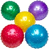 Bedwina Big Knobby Balls - (Pack of 5) 18 Inch Fun Bouncy for Toddlers and Kids, Great for Tactile Sensory Balls, Spiky Stress Ball, Fidget Toys, and Party Favors