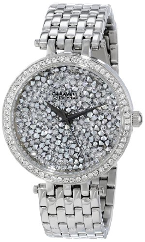 - Caravelle New York Women's 43L160 Swarovski Crystal Pave Watch