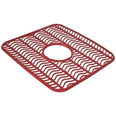 Rubbermaid Antimicrobial Sink Protector Mat, Red Waves, Small (2-Pack)