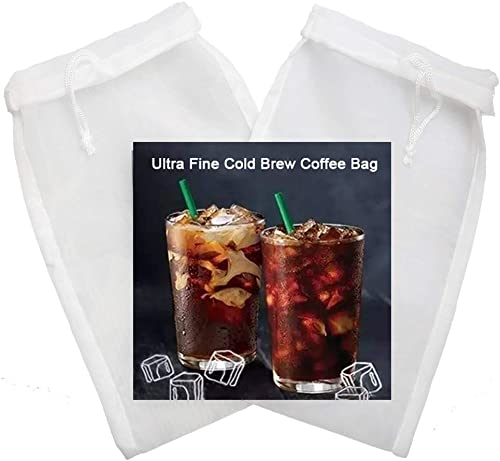 Tinnkee 2 Pack Cold Brew Coffee Bag,120 Micro Food Grade Nylon Ultra Fine Mesh