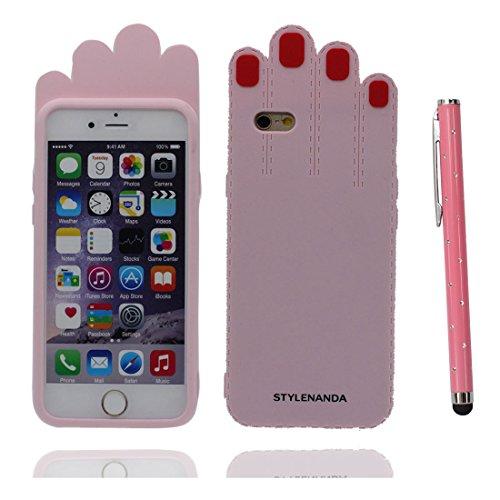 """Apple iPhone 6 Plus Coque (5.5""""), [ de matériau TPU souple Palm ] iPhone 6s Plus étui (5.5 pouces), poussière glissement résistant aux rayures, iPhone 6 Plus Case et stylet"""