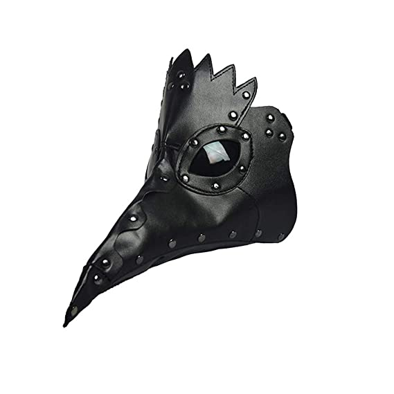 Steampunk Plague Beak Mask Gothic Cosplay Retro Doctor Bird Mask (Black)