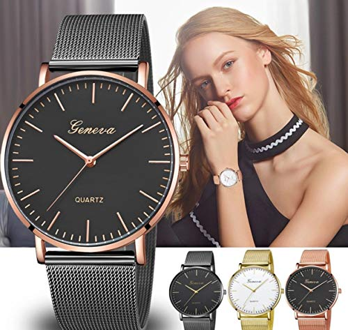 Geneva Fashion Classic Women Watch Quartz Stainless Steel Wrist Watch Bracelet Watches Women Business relogio Feminino reloj