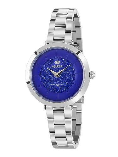 Reloj Marea Analógico para Mujer B54137/1 con Esfera Azul de Purpurina: Amazon.es: Relojes