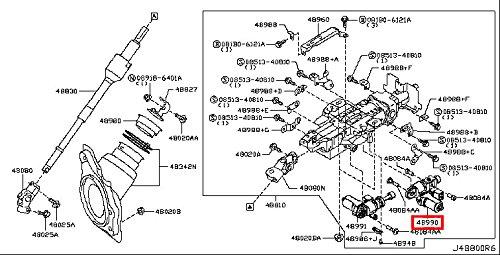 Infiniti Genuine Steering Steering Column Tilt Motor Assy 48990-9N06E M37/56 M - Steering Column Assy