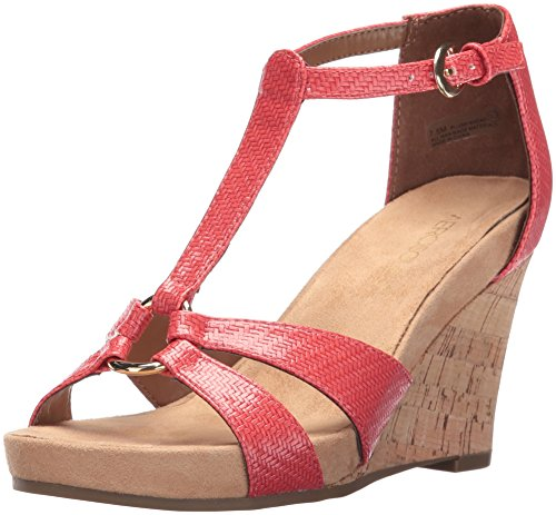 Women Plush Coral Aerosoles Wedge Sandal Ahead HACxqS0w