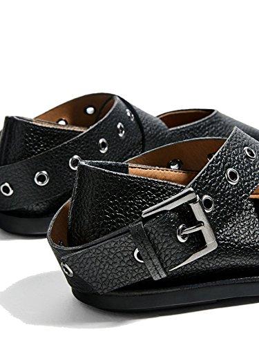 Zara Damen Leather ballerinen mit schnalle 3298/201