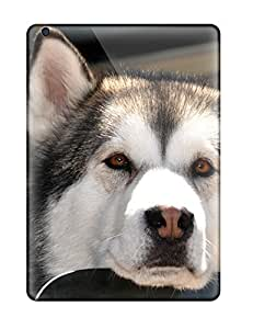 Premium Husky On A Car Window Back Cover Snap On Case For Ipad Air